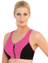 Glamorise Magic-Lift High Impact Zipper Sport Bra Pink
