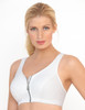 Glamorise Magic-Lift High Impact Zipper Sport Bra White