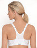 Glamorise Magic-Lift High Impact Zipper Sport Bra White - Back View