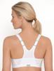 Glamorise Magic-Lift High Impact Zipper Sport Bra White - Back View