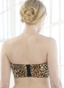 Glamorise Complete Comfort Strapless Stay-In-Place Bra Leopard - Back View