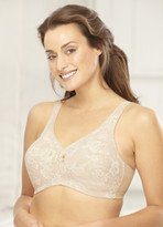 Glamorise Magic-Lift All-Over Lace Support Bra Cafe