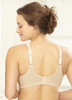 Glamorise Magic-Lift All-Over Lace Support Bra Cafe - Back View