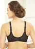 Glamorise Magic-Lift All-Over Floral Lace Support Bra Black - Back View