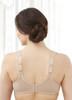 Glamorise Soft Shoulders Everyday Comfort Wide-Strap Bra Cafe - Back View