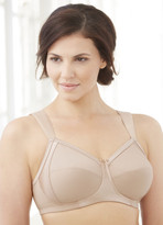 Glamorise Soft Shoulders Everyday Comfort Wide-Strap Bra Cafe