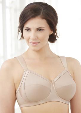 Glamorise Soft Shoulders Everyday Comfort Wide-Strap Bra Cafe