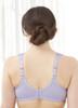 Glamorise Soft Shoulders Everyday Comfort Bra Lavender - Back View