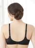 Glamorise Elegance Wonderwire Underwire Satin & Lace Bra Black - Back View