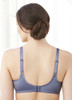 Glamorise Elegance Wonderwire Underwire Satin & Lace Bra Blue Ice - Back View