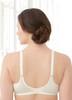 Glamorise Elegance Wonderwire Underwire Satin & Lace Bra Ivory - Back View