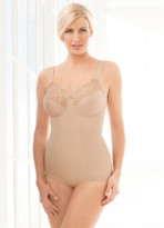 Glamorise Soft Shoulders Body Briefer Shaper Comfort & Control Cafe