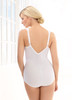 Glamorise Soft Shoulders Body Briefer Shaper Comfort & Control White - Back View