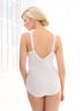 Glamorise Soft Shoulders Body Briefer Shaper Comfort & Control White - Back View