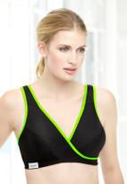 Glamorise Sport Active Comfort Wrap Yoga Low-Impact Bra Black
