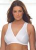 Glamorise Sport Comfort Cross-Wrap Yoga Low-Impact Bra White