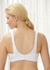 Glamorise Sport Comfort Cross-Wrap Yoga Low-Impact Bra - Back View