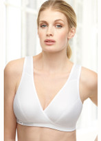 Glamorise Sport Comfort Cross-Wrap Yoga Low-Impact Bra White