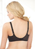 Glamorise Wonderwire Underwire Lace Cami Camisole Bra Black - Back View
