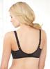 Glamorise Wonderwire Underwire Lace Cami Camisole Bra Black - Back View