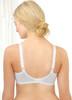 Glamorise Wonderwire Underwire Lace Cami Camisole Bra White - Back View