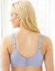 Glamorise Magic-Lift Cotton-Blend Lace Support Bra Purple - Back View