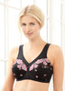 Glamorise Magic-Lift Embroidered Full-Figure Support Bra Black