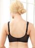 Glamorise Magic-Lift Embroidered Full-Figure Support Bra Black - Back View