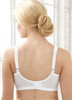 Glamorise Magic-Lift Full-Figure Embroidered Support Bra White - Back View
