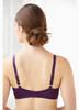 Glamorise Perfect A Cup Seamless Padded T-Shirt Bra Purple - Back View
