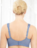 Glamorise Magic-Lift Wirefree Support Bra Blue Ice - Back View