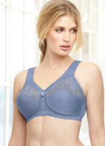 Glamorise Magic-Lift Wirefree Support Bra Blue Ice