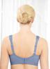 Glamorise Magic-Lift Wirefree Support Bra Blue Ice - Back View