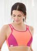 Glamorise Magic-Lift Custom Control Sport Bra Pink Orange