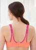 Glamorise Magic-Lift Custom Control Sport Bra Pink Orange - Back View