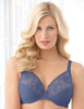 Glamorise Wonderwire Elegance Underwire Embroidered Bra Purple