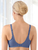 Glamorise Wonderwire Elegance Underwire Embroidered Bra Purple - Back View