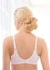 Glamorise Wonderwire Elegance Underwire Embroidered Bra White - Back View