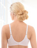 Glamorise Wonderwire Elegance Underwire Embroidered Bra White - Back View