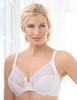Glamorise Wonderwire Elegance Underwire Embroidered Bra White