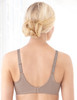 Glamorise Wonderwire Elegance Underwire Embroidered Bra Taupe - Back View