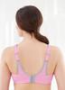 Glamorise Magic-Lift Sport Seamless Wirefree Bra Pink Lilac - Back View