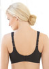 The strap adjustments in the back and the adjustable hook and eye closure guarantee a perfect fit.