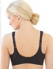 Glamorise Magic-Lift Embroidered Wirefree Support Bra Black - Back View