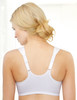Glamorise Soft Shoulders Front-Close Racerback Bra White - Back View