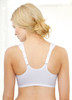 Glamorise Soft Shoulders Front-Close Racerback Bra White - Back View