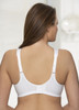 Glamorise Magic-Lift Embroidered Cotton-Blend Support Bra - Back View