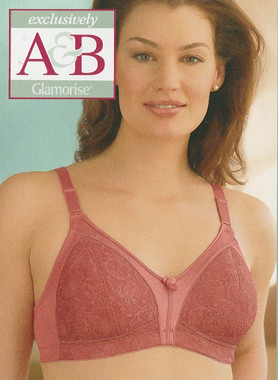 Glamorise Lightly-Lined Bra Coral - Exclusively Cup Size A & B