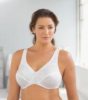 Glamorise Wonderwire Comfort & Support Underwire Bra White