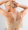 Glamorise Elegance Racerback Front Close Satin & Lace Bra - Back View